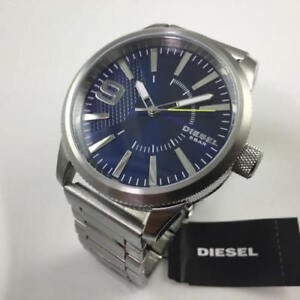 Authentic Diesel Rasp Blue Watch New in Box with Manual.
