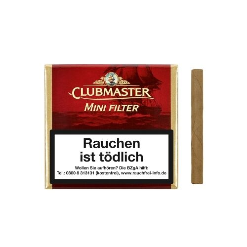 Clubmaster Mini Red Filter 20 Zigarillos / 85382