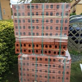 A pack of 400 Ibstock 65mm Atlas Stratford Red Dragface Bricks (5pks Available)