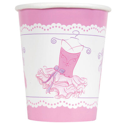PINK BALLERINA 9oz PAPER CUPS (8) ~ Birthday Party Supplies Beverage Drinking](Pink Cups)