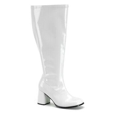 Wide Calf Halloween Boots (Womens White Wide Calf Halloween Gogo)