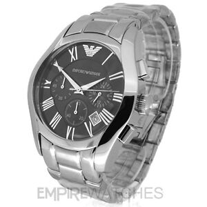 *NEW* MENS EMPORIO ARMANI STEEL CHRONOGRAPH WATCH - AR0673 - RRP £299.00