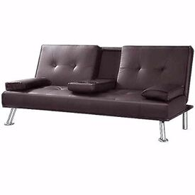 Sofa bed lovely brown leather