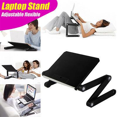 FLEXIBLE FOLDING ADJUSTABLE STAND DESK for Laptop Notebook iPad Tab : BLACK