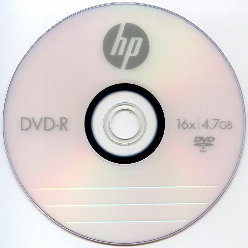 30-pack Hp 16x Logo Blank Dvd-r Recordable Disc Media 4.7gb With Paper Sleeve
