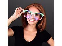 Wholesale-Resellers-24 X JUMBO Flashing LED Glasses Night Club Party