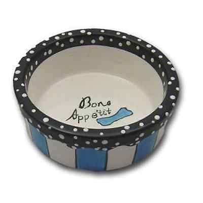 CHARMING PET Designer Dog or Cat Bistro Food Bowl Sky Blue