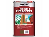 Ronseal Total Wood Preserver 5ltr Dark Oak £13.54 each creosote substitute collect from TW4