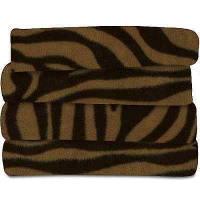 Sunbeam Tiger Brown Animal Print Heated Throw Blanket Fleece Electric EXTRA SOFT