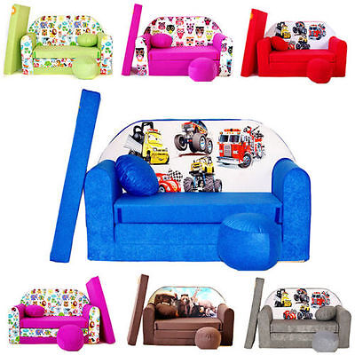 Children will love a colourful mini sofa bed in their room
