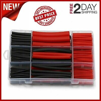 Heat Shrink Tubing Dual Wall Adhesive Lined Marine Glue Tube 31 Ratio Black Red