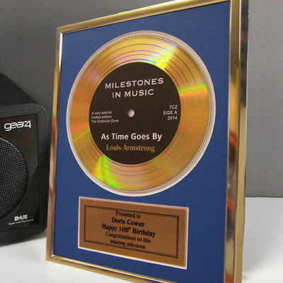 Personalised Framed Gold Record Disc 70th 80th 90th 100th Birthday Gift Idea](Birthday Sash Ideas)