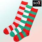 Christmas Striped Knee-High Socks for Women