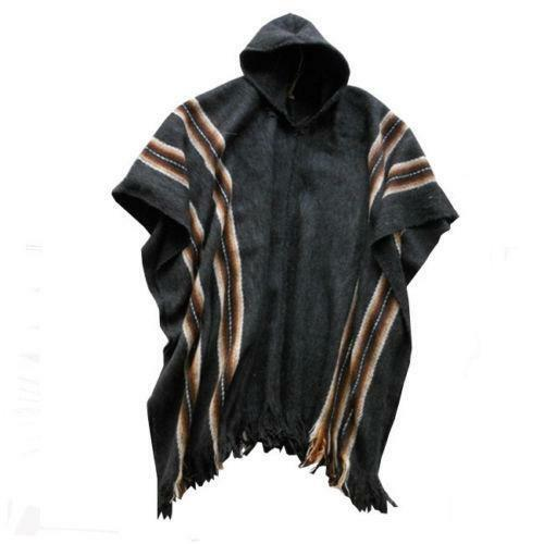 Poncho with hood clothing shoes amp accessories ebay