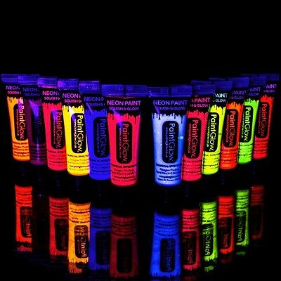 PaintGlow 10ml/.34oz Blacklight Reactive Face and Body Paint- FAST USA - Blacklight Accessories