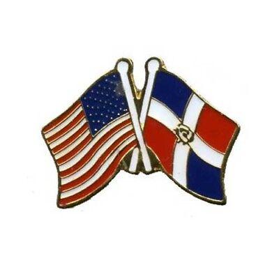 Wholesale 12 USA Flag American Flag Dominican Republic Lapel Hat Cap Pin Tie Tac