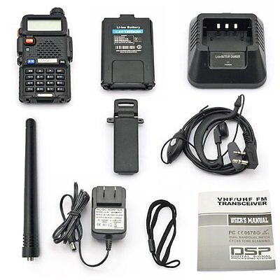 Baofeng UV-5R Dual-Band Two-way Radio VHF/UHF 136-174/400-520MHz FM Ham on Rummage