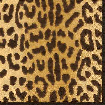 Leopard Print Paper Plates (Paper Cocktail Napkins Beverage Napkins Leopard Animal Print Party Supplies)