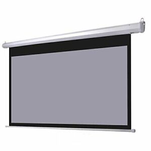 Electric Matte White/grey Motorized Projector Screen