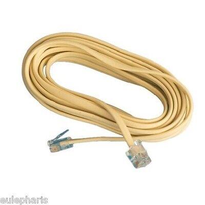 Cable Alargador de Telefono 2m, latiguillo RJ11, 1 Macho a 1 Macho