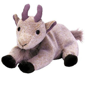 TY Beanie Baby - GOATEE the Goat (6 inch) MWMT's - Stuffed Animal Toy
