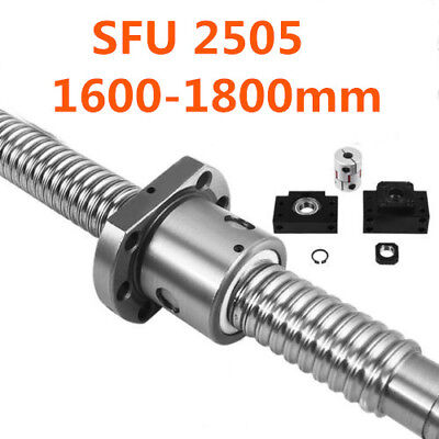 1 Anti-backlashed Ballscrew RM2505-1600mm-C7 CNC Router 1 Ballscrew Nut Durable