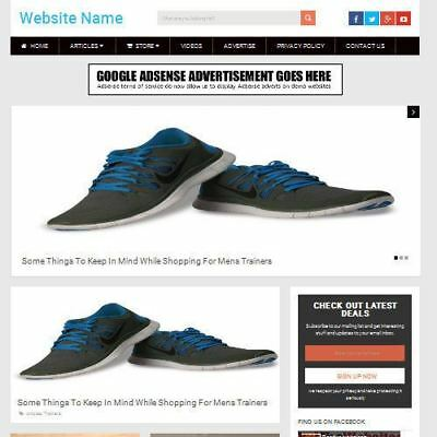 MENS SHOES STORE - Fully Stocked Online Business Website For Sale + (Man Store Online)
