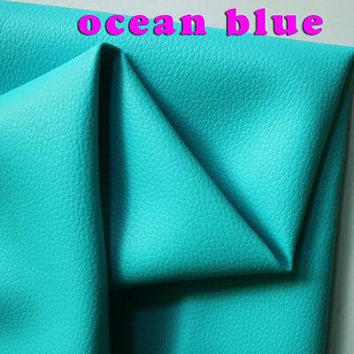 Ткань ocean blue Small Lychee PU