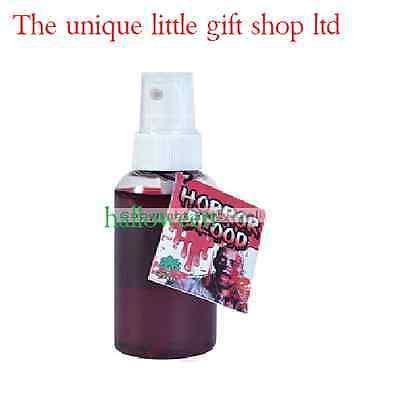 Fancy Dress halloween Fake Blood Spray Bottle Great for creating blood splats