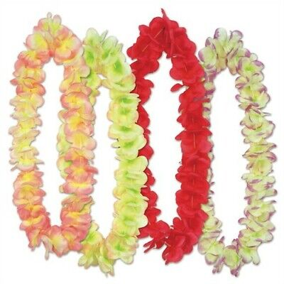 Aloha Floral Leis Assortment 4 Pack Hawaiian Luau Leis Luau Party - Floral Leis