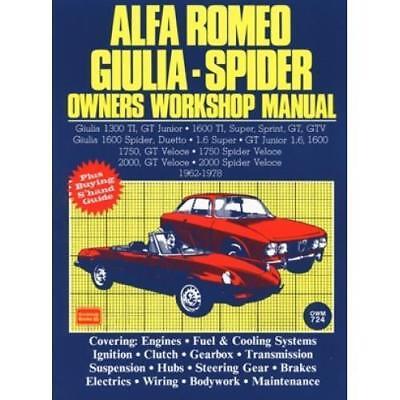 ALFA ROMEO VELOCE GT 1600 1750 2000 GTV JUNIOR DUETTO Manual Owners Handbook