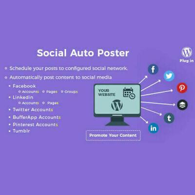 Social Auto Poster - Wordpress Plugin Latest Version