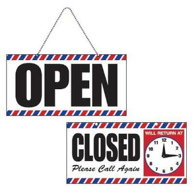 Scalpmaster Openclosed Sign With Clock