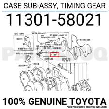 1130158021 Genuine Toyota CASE SUB-ASSY, TIMING GEAR 11301