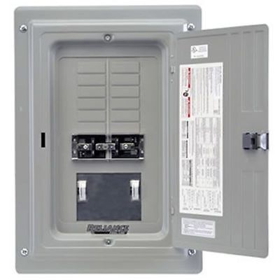 Indoor Transfer Panel - Reliance Controls 100-Amp Utility/50-Amp Gen Indoor Transfer Panel w/ Wattmeters