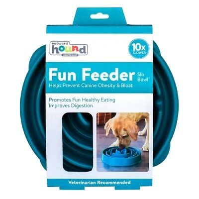 Large Pet Dog Bowl Fun Feeder Non Slip For Healthy Slow Feed Bloat Stop BPA Free