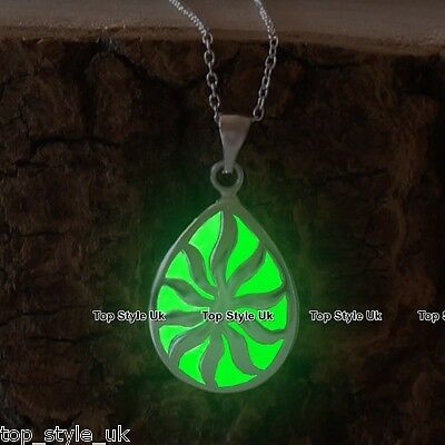 Green Glow in the Dark Necklace Unique Christmas Gift for bestfriend (Christmas Gifts For The Best Friend)