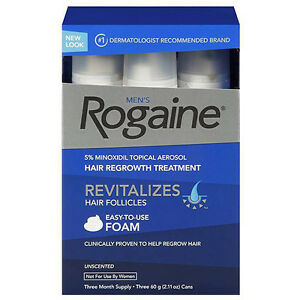 BRAND NEW SEALED 5% Extra Strength Rogaine Hair regrowth 3-pack