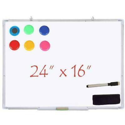 24x16 Single Side Magnetic Writing Whiteboard Dry Erase Board Office W Ur