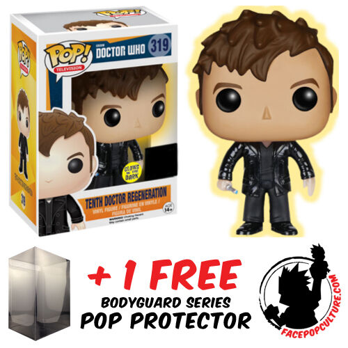 FUNKO POP DOCTOR WHO TENTH DOCTOR REGENERATION GLOW + FREE POP PROTECTOR