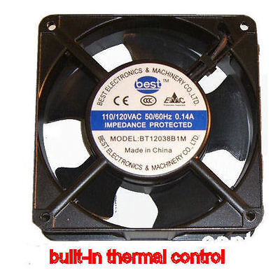 Best Electronics BT12038B1M AC115V 120mm X 38mm AC FAN THERMAL
