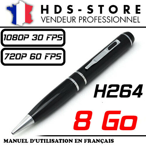 PENCAM11+Pen+Spy+Camera+8+Go+Full+HD+1080P+30FPS+720P+60+Fps+Video+Photo+GB