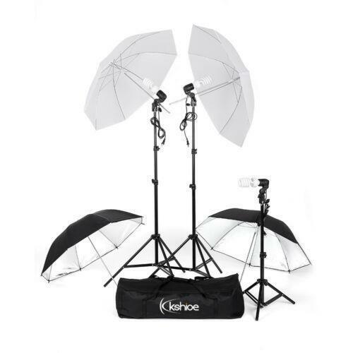 "4 x 33"" Photo Studio Lighting Umbrellas Camera Video Photography Light Lamp Kit"