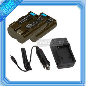 2 X New Battery+ Charger for Canon BP-511 EOS 20D 30D 50D 40D 300D BP512