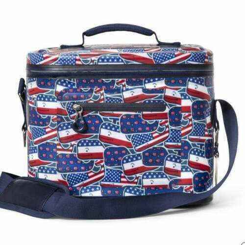 NEW Vineyard Vines - Patriotic Whaley USA  12 Can Cooler Red/Whale/Blue