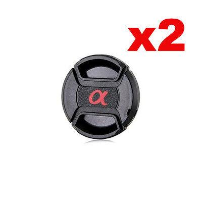 2x Bouchon (cache objectif) de remplacement 55mm pr Sony Alpha a300 a350 a500...