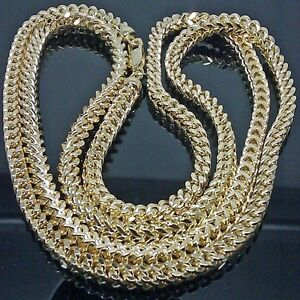 Solid 10K Yellow Gold Mens 5 mm Franco Link Chain 26 Inches New