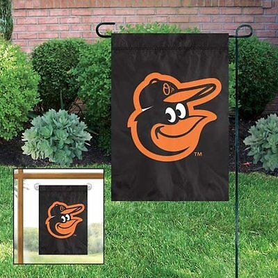 MLB Baltimore Orioles Embroidered Garden Window FLAG NEW 15