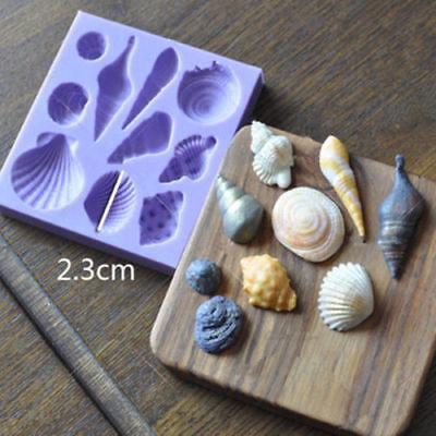 Sea Shells Conch Silicone Mould Cake Beach Stones Summer Fondant Baking DIY Mold