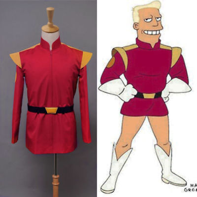 Sitcom Futurama Captain Zapp Brannigan Red Uniform Cosplay - Zapp Brannigan Costume